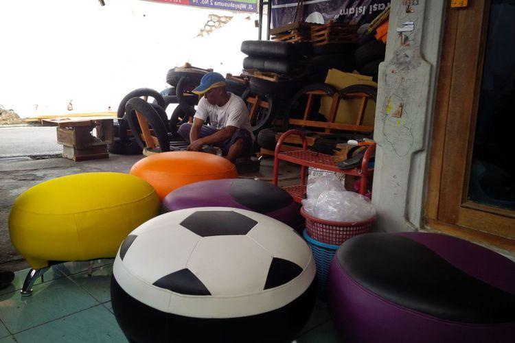 Peluang Usaha: Membuat Sofa dari Ban Bekas Mobil