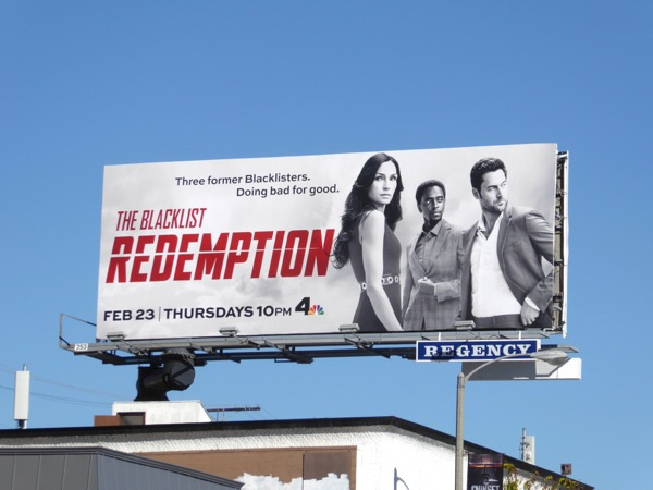 Blacklist Redemption series billboard