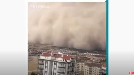 Σφοδρή αμμοθύελλα έπληξε στην Άγκυρα