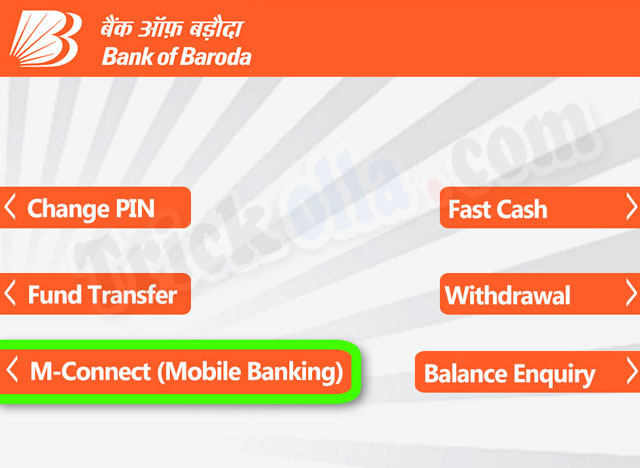 bank of Baroda mobile registration