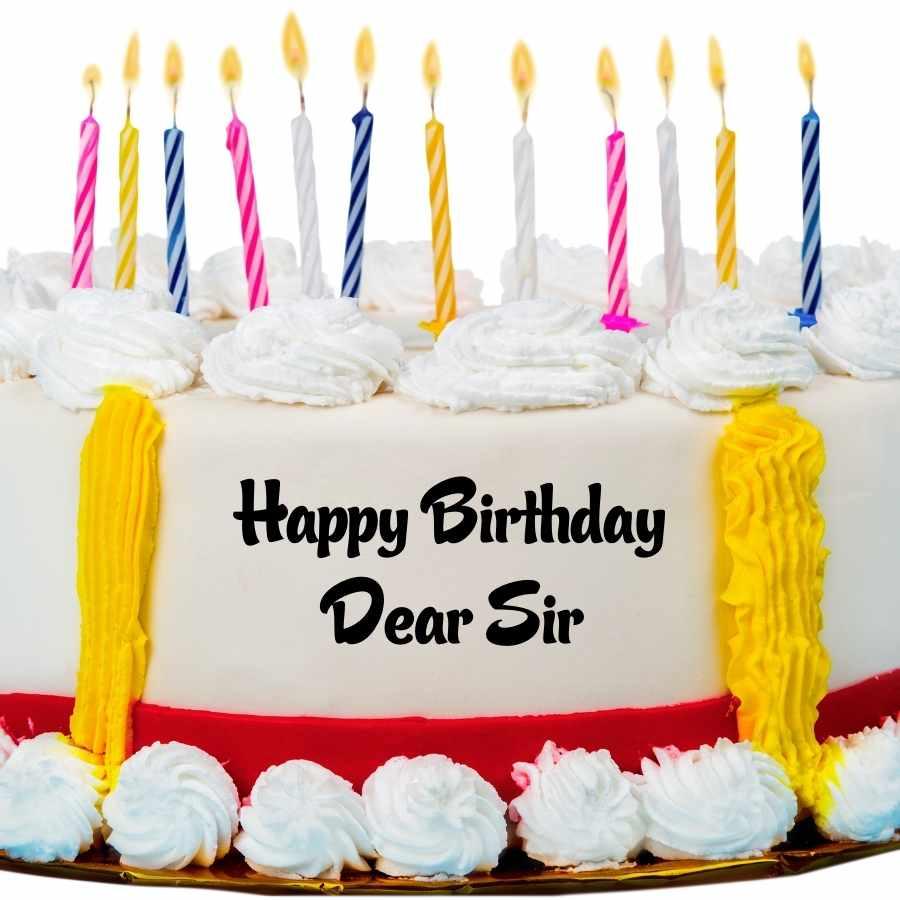 happy birthday dear sir cake