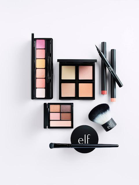 e.l.f cosmetics on flatlay
