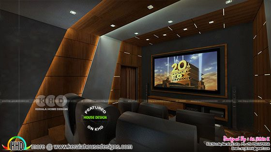 attractive home theater interior
