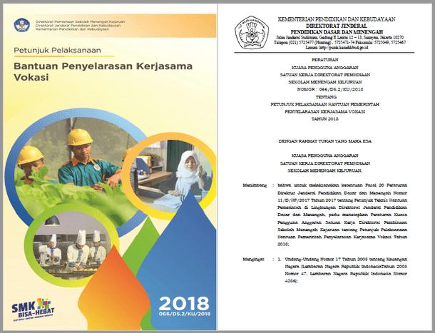 Juklak Bantuan Penyelarasan Kerjasama Vokasi SMK Tahun 2018