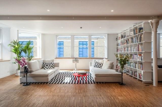 Diseño de sala moderna grande
