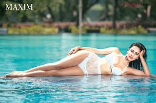 Neha Sharma in Bikini for MAXIM August 2018 Bollywood Bikini Special Exclusive Pics 002