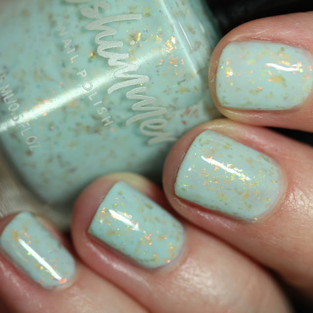KBShimmer Water Relief swatch pale mint nail polish