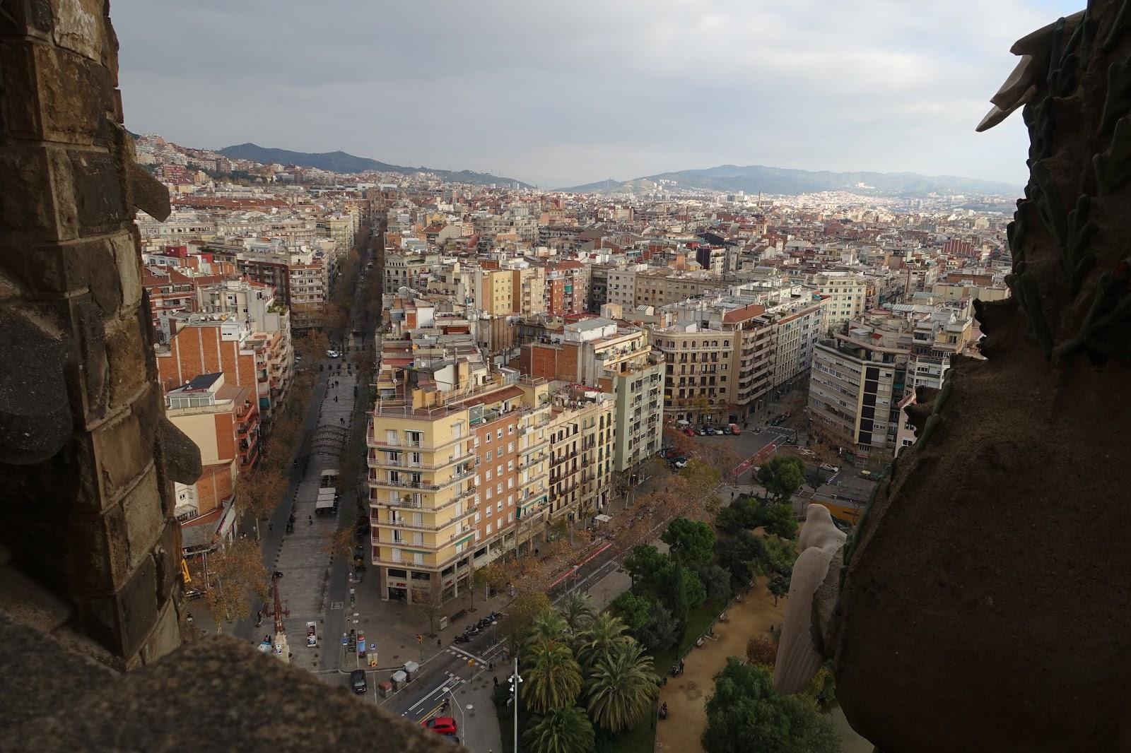 サグラダ・ファミリア (Sagrada Familia)の塔からの眺め