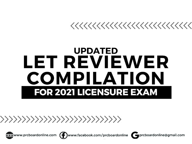 Updated LET Reviewer with Answer Key Compilation 2021