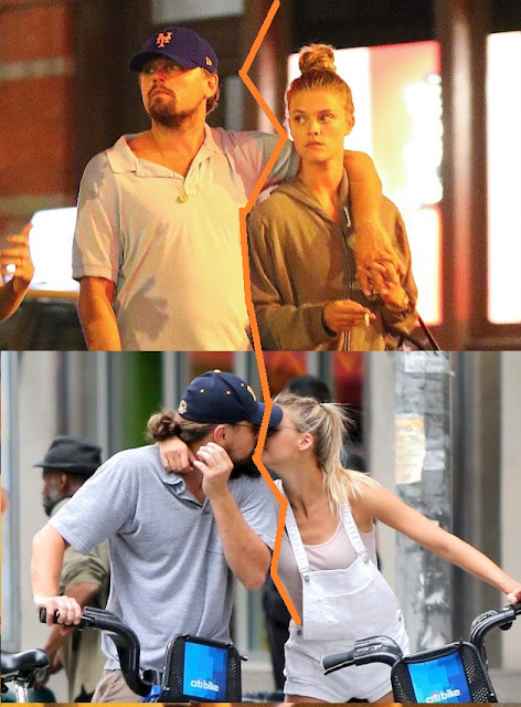 Leonardo Dicaprio and Nina Agdal while they were together