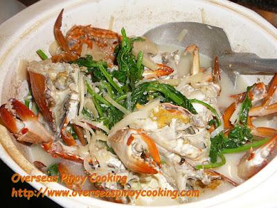 Ginataang Alimasag with Labong - Cooking Procedure