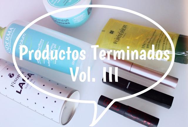 Productos terminados Vol. III
