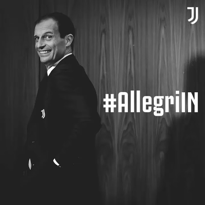 OFFICIAL: Allegri returns to Juventus to replace Pirlo as manager