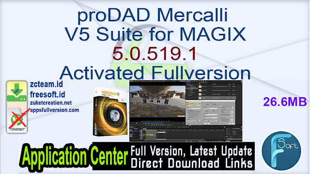 proDAD Mercalli V5 Suite for MAGIX 5.0.519.1 Activated Fullversion
