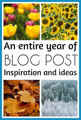 A year of seasonal blog posts and inspiration