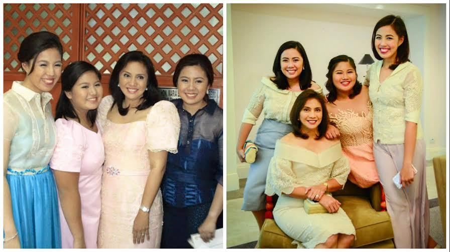Leni Robredo with daughters