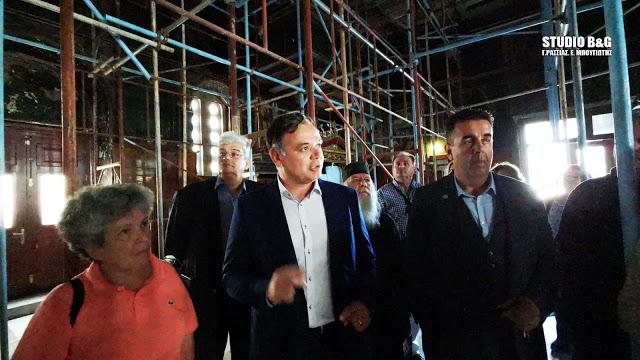 Γ.Διδασκάλου:  Άμεσα η έναρξη των εργασιών στον Ι. Ν. Αγίου Νικολάου στο Ναύπλιο