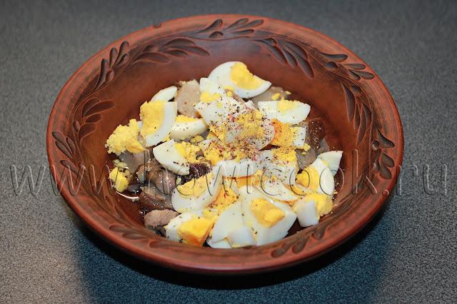 рецепт салата с белыми грибами с пошаговыми фото