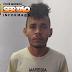 Jovem acusado de crime de roubo é preso por força de mandado de prisão na cidade de Sousa