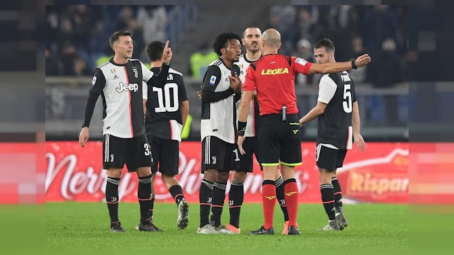 Lazio hand Juve first defeat of season after controversial red card