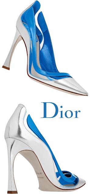 Blue Transparent Dior Pumps #brilliantluxury