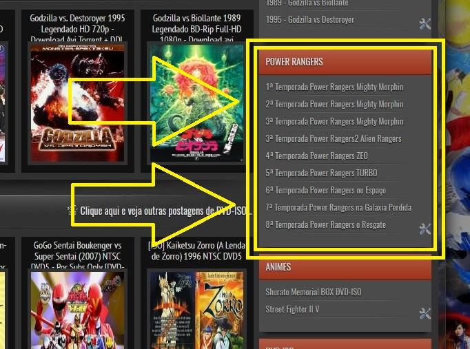 Torrent Atualizado Dos Power Rangers 01 Ao 08 Tokusatsus