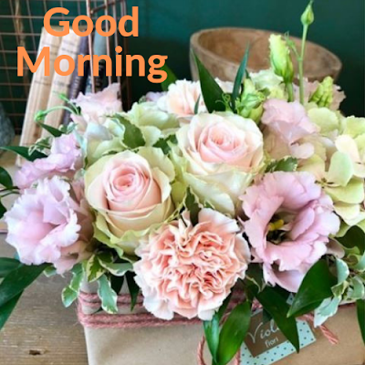 good morning with flowers