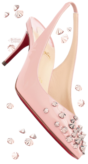 Christian Louboutin Pink Drama Sling Pumps #brilliantluxury