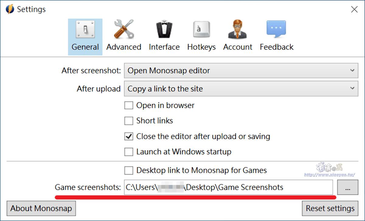 Monosnap 免費螢幕截圖、錄影軟體,無時間限制輸出影片無水印