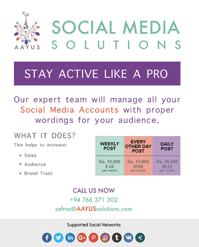 Aayus Solutions | Social Media Solutions - Stay active like a pro.
