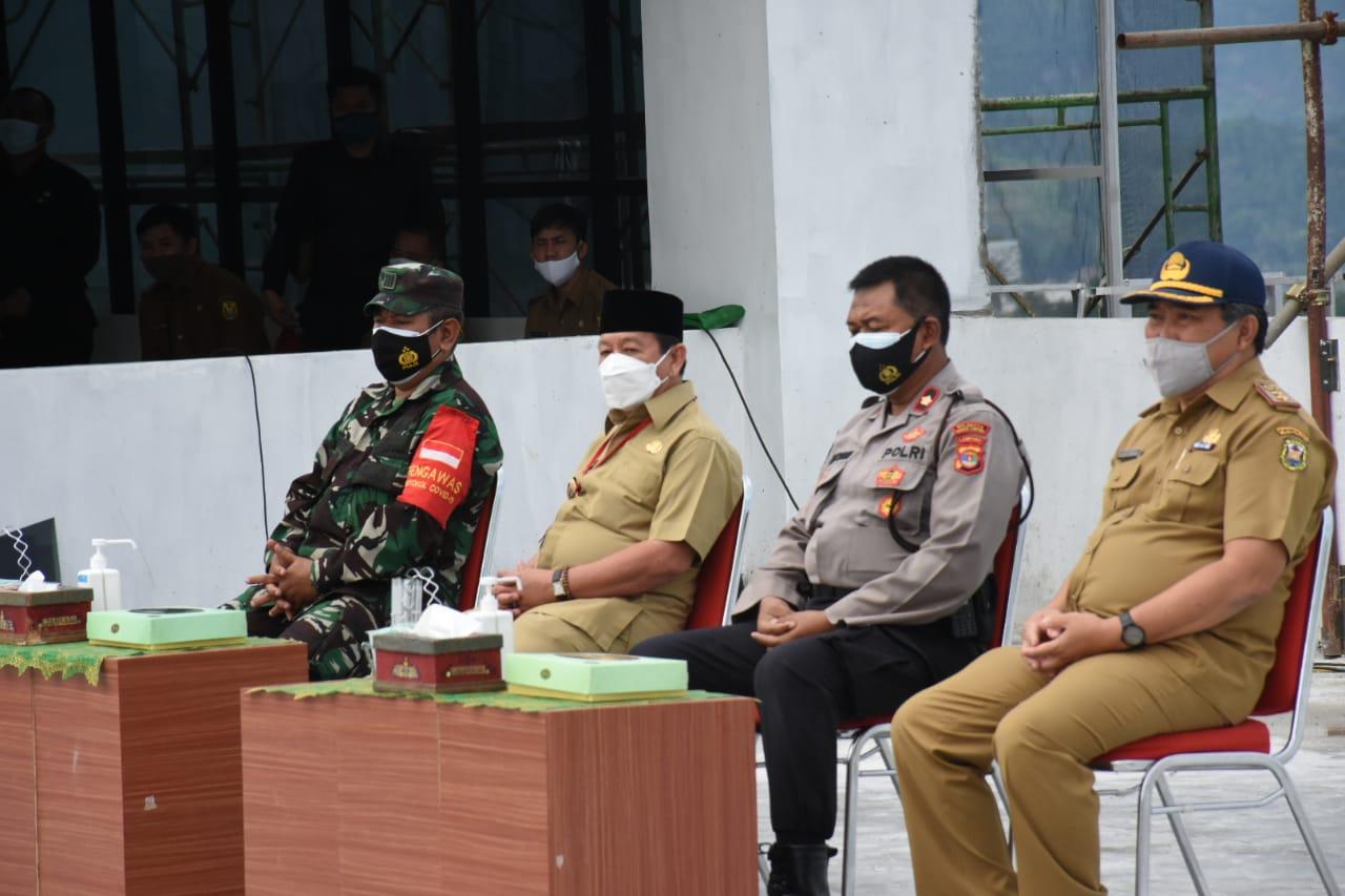 Pasiops Kodim 0410/KBL Kapten Inf Dja'far, menghadiri kegiatan pengarahan Walikota Bandar Lampung Drs. H. Herman HN.,M.M, di Kantor Pemkot Bandar Lampung