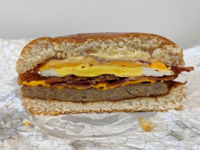 Review Wendy S Breakfast Baconator Brand Eating