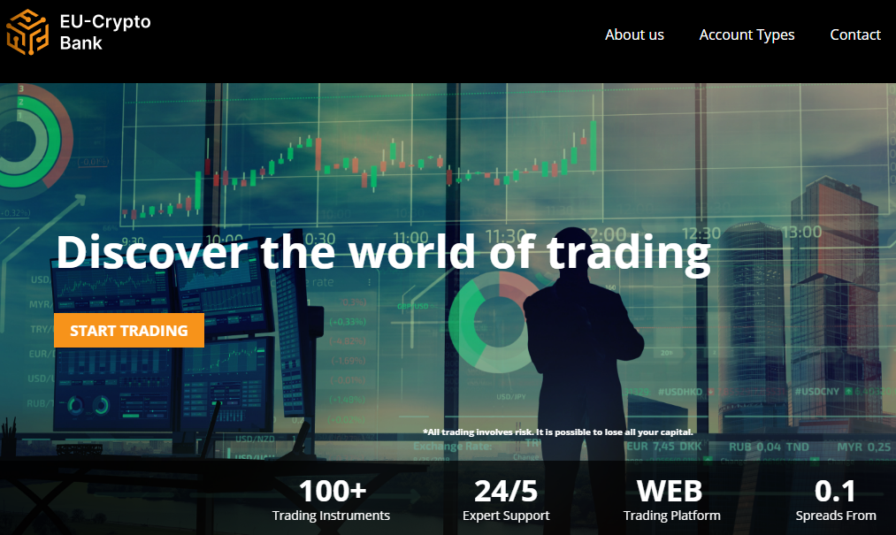 EU-Crypto Bank Launches New Website and Trading Platform