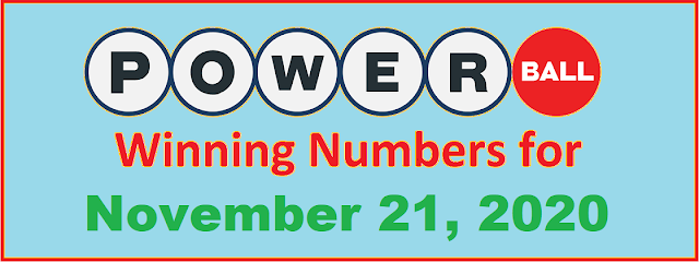 PowerBall Winning Numbers for Saturday, November 21, 2020