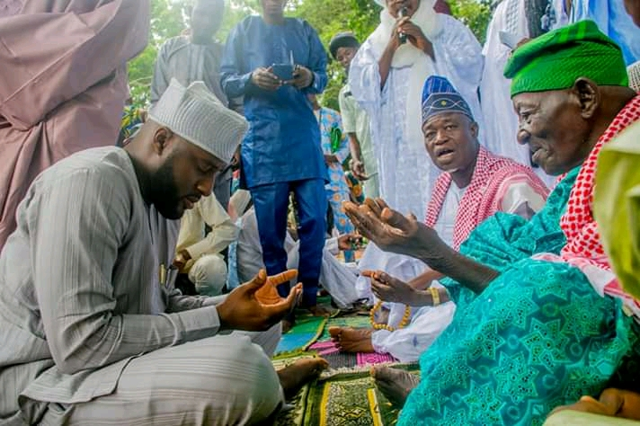 Oyo State Speaker Rt Hon Ogundoyin Adebo Celebrates Eid Al Adha With His Home Town People in Eruwa also Prays With Them See Photos7