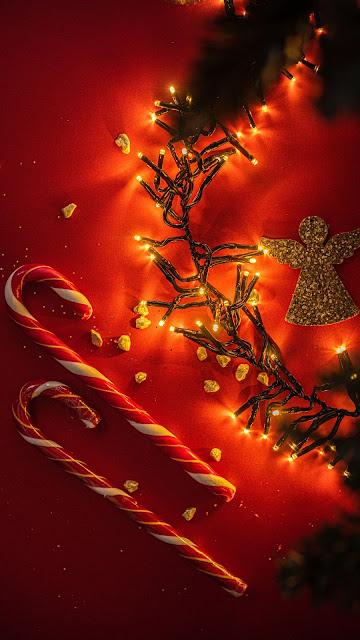 Christmas, lollipops, garland, angel, holiday
