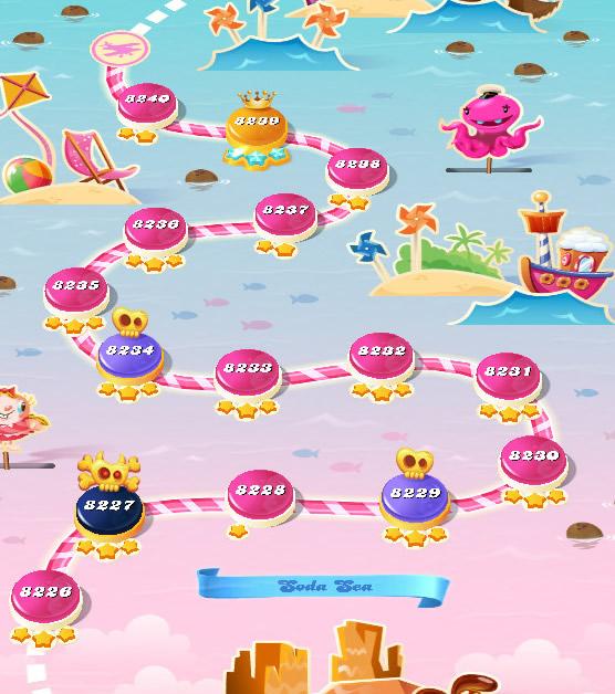 Candy Crush Saga level 8226-8240