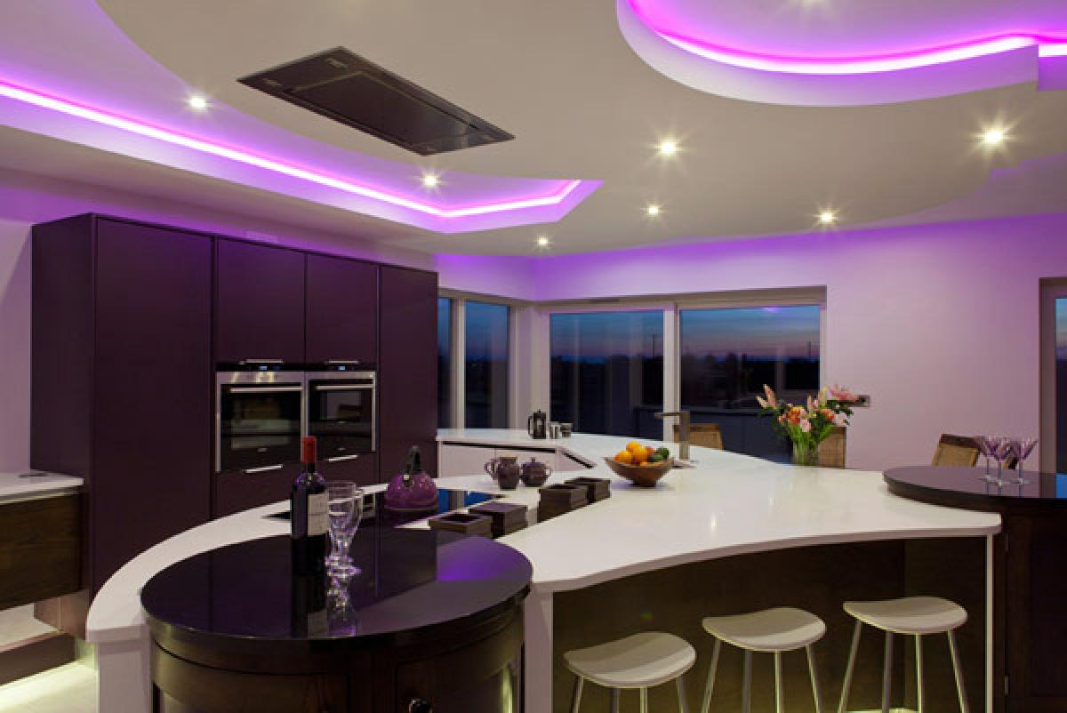 An Elegant And Luxurious Purple Kitchen Designs