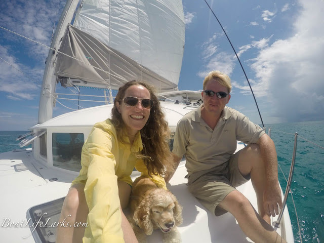 Sailing a Lagoon 380 catamaran in Key Largo