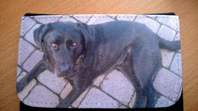 Portemonnaie mit schwarzen Labrador Hund Angel