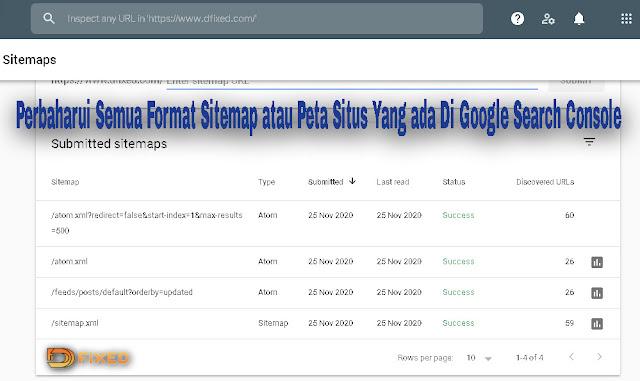 Perbaharui Semua Format Sitemap Di Google Webmaster