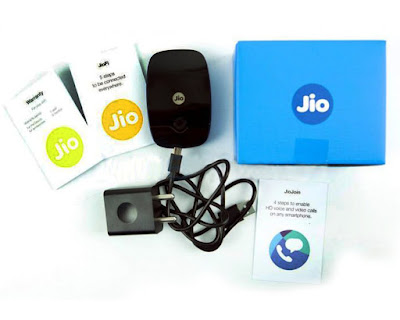 Reliance Jio 4G Wifi USB Portable Router and HotSpot