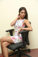 Nishi Ganda stunning cute in Flower Print short dress at Tick Tack Movie Press Meet March 2017 113.JPG