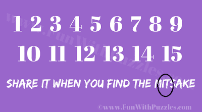 Answer to Find the Mistake Mind Puzzle