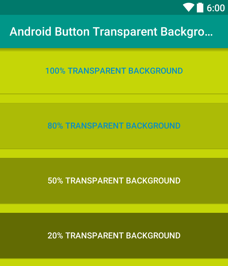 Making Transparent Background in Android Button | Viral