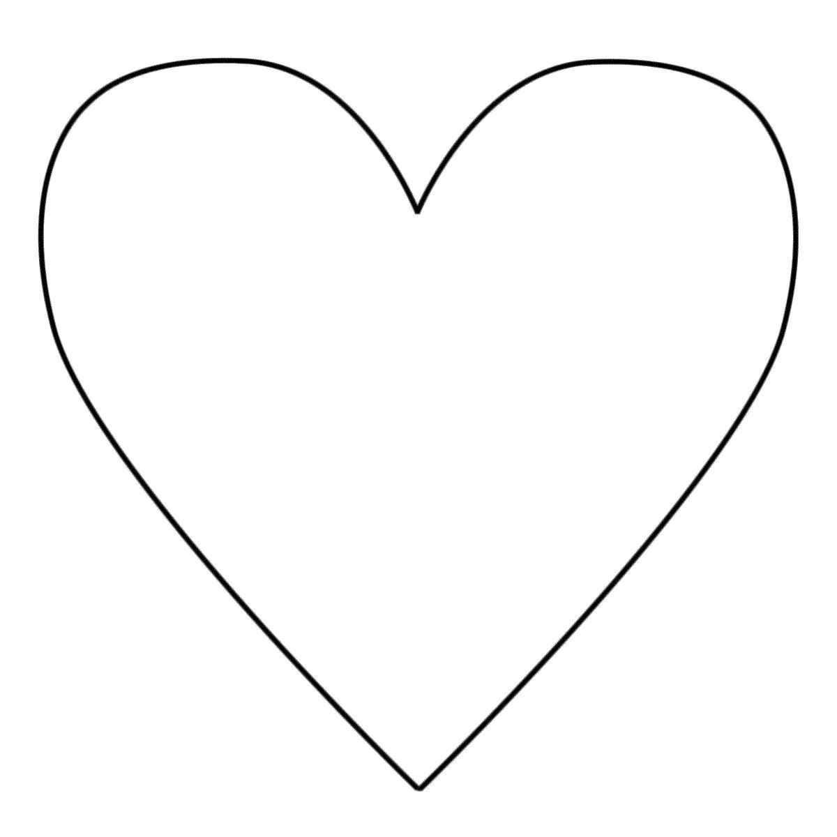 Vorlage Herz Malen