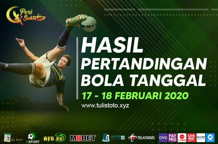HASIL BOLA TANGGAL 17 – 18 FEBRUARI 2021
