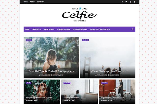 Celfie Blogger Template