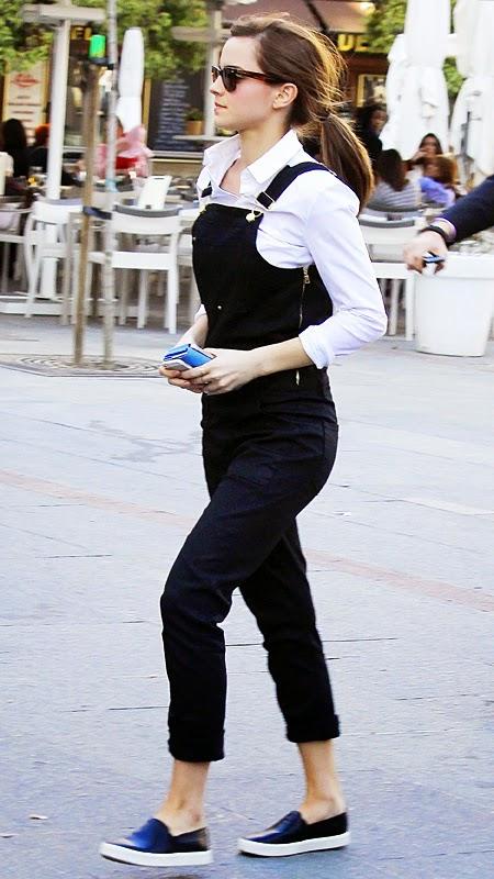 Emma Watson overalls