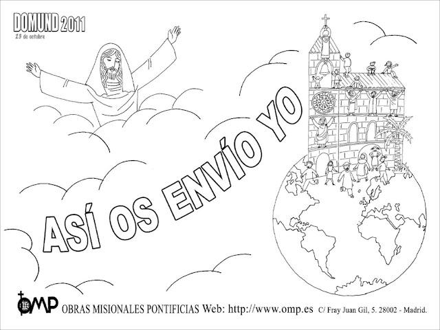 Dibujos De Las Misiones: DOMUND : Imagenes Para Colorear